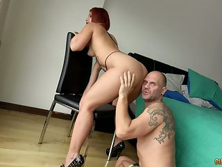 Big assed hooker Ms Monroy gives her fiend and gets her twat banged