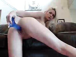 Curly Blonde Teen Records Solo Dildo Masturbation More at