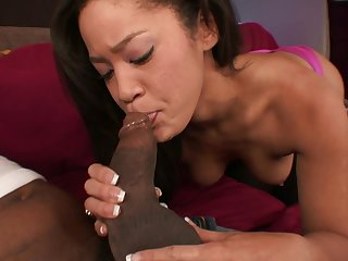 Blasian Arousing Jayla Starr Blowing And Fu - Negro mamba