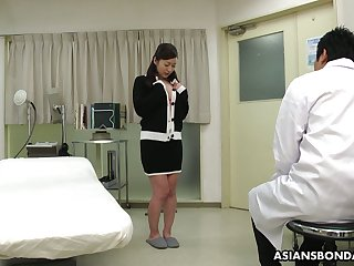 Kinky Asian doctor makes Maria Ono squirt and fills her mismanage with sperm