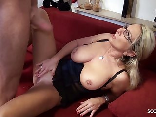 German blonde adult bewitched young varlet with hard fuck