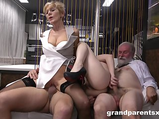 Mature and slutty niece are swapping dicks all round insane manners