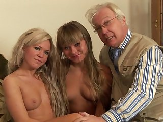 The hottest old and young foursome action