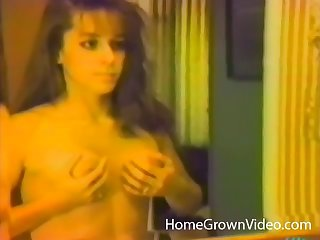 Retro video of housewife masturbating and riding her lover's dick