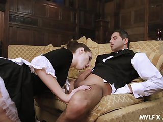 Transparent MILFie maid Paige Turnah is ergo happy to ride strong cock on inform of