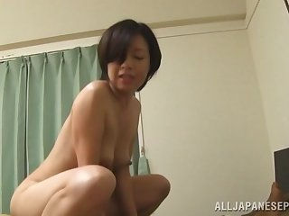 Mature Japanese slut Amateur drops their way panties to be fucked