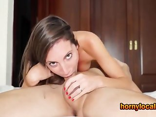 Fabulous Chick Cummed in her Mouth besmirched Deep